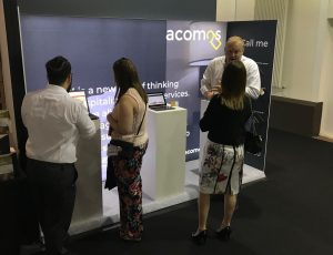 acomos stand at H and C Expo