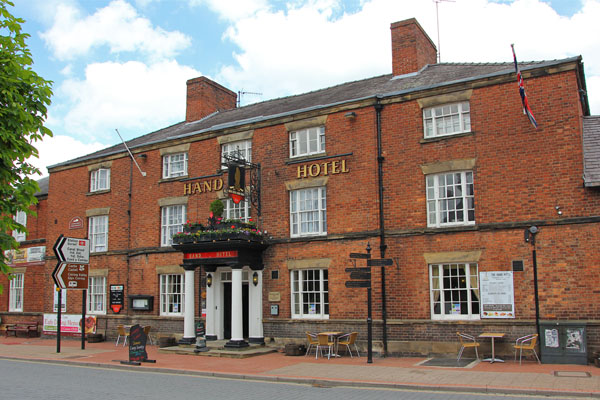 The Hand hotel in chirk